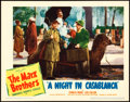 "Movie Posters:Comedy, A Night in Casablanca (United Artists, 1946). Lobby Card (11"" X14"").. ..."