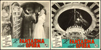 "Phantom of the Opera (Universal International, R-1950s). Italian Photobustas (8) (13"" X 13.5""). ... (Total: 8..."