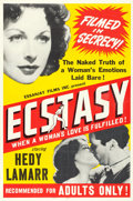 """Movie Posters:Romance, Ecstasy (Essanjay, R-1940s). Poster (40"""" X 60"""").. ..."""