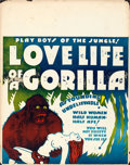 "Movie Posters:Exploitation, Love Life of a Gorilla (Jewel Productions, 1937). Jumbo Window Card(22"" X 28"").. ..."