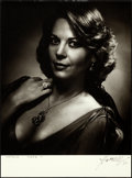 """Movie Posters:Miscellaneous, Natalie Wood by George Hurrell (c. 1977). Signed Portrait Photo(11"""" X 15"""").. ..."""