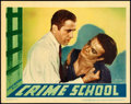 "Movie Posters:Crime, Crime School (Warner Brothers, 1938). Linen Finish Lobby Card (11""X 14"").. ..."