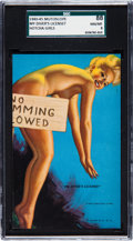 "Non-Sport Cards:General, 1940-45 Mutoscope Hot Cha Girls ""My Diver's License"" SGC 88 NM/MT 8- The Reigning SGC Champion! ..."