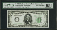 Fr. 1955-I $5 1934 Federal Reserve Note. PMG Gem Uncirculated 65 EPQ