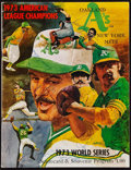 Baseball Collectibles:Tickets, 1973 World Series Program (Oakland Athletics) With 14Signatures....