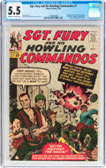 Silver Age (1956-1969):War, Sgt. Fury and His Howling Commandos #1 (Marvel, 1963) CGC FN- 5.5 Off-white to white pages....