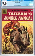 Silver Age (1956-1969):Adventure, Dell Giant Comics Tarzan's Jungle Annual #6 (Dell, 1957) CGC NM+ 9.6 White pages....