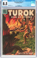 Silver Age (1956-1969):Adventure, Turok, Son of Stone #9 (Dell, 1957) CGC VF+ 8.5 Off-white to white pages....
