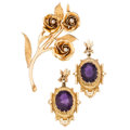 Estate Jewelry:Lots, Diamond, Amethyst, Gold Jewelry. . ... (Total: 3 Items)