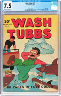 Golden Age (1938-1955):Adventure, Four Color #11 Wash Tubbs (Dell, 1942) CGC VF- 7.5 Cream to off-white pages....