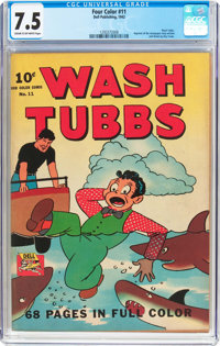 Four Color #11 Wash Tubbs (Dell, 1942) CGC VF- 7.5 Cream to off-white pages