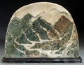 Asian:Chinese, A Chinese Scholar's Rock with Natural Mountainscape Motif. 14-1/2inches high x 18-1/2 inches wide (36.8 x 47.0 cm) (rock an...
