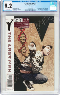 Y: The Last Man #1 (DC/Vertigo, 2002) CGC NM- 9.2 White pages