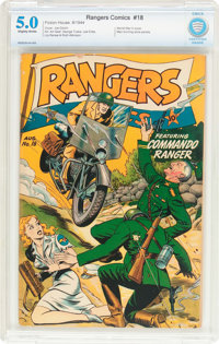 Rangers Comics #18 (Fiction House, 1944) CBCS VG/FN 5.0 Slightly brittle pages