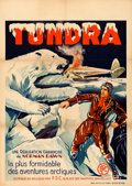 "Movie Posters:Adventure, Tundra (PDC, 1938). Pre-War Belgian (24"" X 33.5"").. ..."