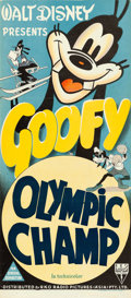 "Movie Posters:Animated, The Olympic Champ (RKO, 1942). Australian Daybill (13.25"" X 30"")....."