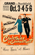"Movie Posters:Comedy, Christmas in Connecticut (Warner Brothers, 1945). Window Card (14"" X 22"").. ..."