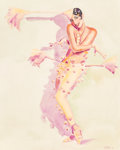 Pin-up and Glamour Art, Olivia De Berardinis (American, b. 1948). Clowning Around,1990. Watercolor on board. 29 x 23 in. (sight). Signed and da...