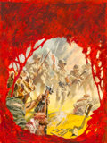 Pulp, Pulp-like, Digests, and Paperback Art, Tom Beecham (American, 1926-2000). Bloody Hundredth, OutdoorAdventures magazine cover, April 1958. Oil and gouache on b...