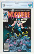 Modern Age (1980-Present):Superhero, Wolverine #1 (Marvel, 1988) CBCS NM/MT 9.8 White pages....