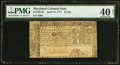 Colonial Notes:Maryland, Maryland April 10, 1774 $2 PMG Extremely Fine 40 Net.. ...