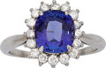 Estate Jewelry:Rings, Tanzanite, Diamond, Platinum Ring, Tiffany & Co.. ...