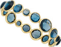 Estate Jewelry:Bracelets, Blue Topaz, Gold Bracelet, Ippolita. ...