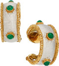 Estate Jewelry:Earrings, Emerald, Gold Earrings, Buccellati. ... (Total: 2 Items)