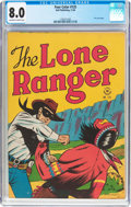 Golden Age (1938-1955):Western, Four Color #125 The Lone Ranger (Dell, 1946) CGC VF 8.0 Off-white to white pages....