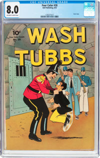 Four Color #28 Wash Tubbs (Dell, 1943) CGC VF 8.0 Off-white to white pages