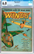 Golden Age (1938-1955):War, Wings Comics #8 (Fiction House, 1941) CGC FN 6.0 Off-whitepages....