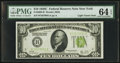 Fr. 2003-B $10 1928C Light Green Seal Federal Reserve Note. PMG Choice Uncirculated 64 EPQ