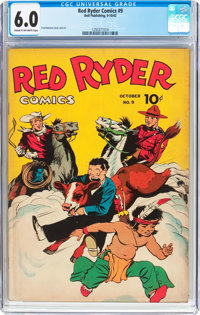 Red Ryder Comics #9 (Dell, 1942) CGC FN 6.0 Cream to off-white pages