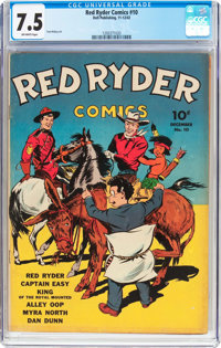 Red Ryder Comics #10 (Dell, 1942) CGC VF- 7.5 Off-white pages