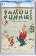 Platinum Age (1897-1937):Miscellaneous, Famous Funnies #32 (Eastern Color, 1937) CGC VG 4.0 Off-whitepages....