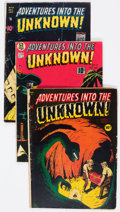 Golden Age (1938-1955):Horror, Adventures Into The Unknown Group of 5 (ACG, 1949-51) Condition:Average GD.... (Total: 5 Comic Books)