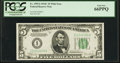 Small Size:Federal Reserve Notes, Fr. 1959-I $5 1934C Federal Reserve Note. PCGS Gem New 66PPQ.. ...