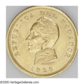 Ecuador: , Ecuador: Republic gold Condor 1928, KM74, XF-AU, cleaned and one small flaw at the base of the jaw....