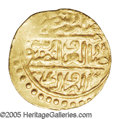 Egypt: , Egypt: Sulayman I gold Sultani 926AH (1520) Misr (Cairo) Mint, Nuri Pere 180-1, choice UNC, fully lustrous and very attractive. The...