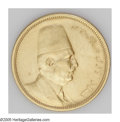 Egypt: , Egypt: Fuad gold 100 Piastres 1922, KM341, lightly toned AU-UNC,hairlined from an old-time cleaning....