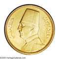 Egypt: , Egypt: Fuad gold 100 Piastres 1929, KM354, Friedberg 32, prooflikeUNC, light old-time toning - a choice example of this type depic...