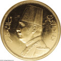 Egypt: , Egypt: Fuad gold 500 Piastres 1932, KM355, Proof 63 PCGS, a choiceexample of this handsome gold coin....