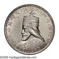 Ethiopia: , Ethiopia: Haile Selassie I Medallic Silver Talari EE1923 (1930), Bruce X10 (Unusual World Coins), lightly toned AU, small mount trace ...