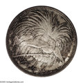 German New Guinea: , German New Guinea: German Protectorate 5 Marks 1894A, Bird ofParadise/Date and value in wreath, KM7, nicely toned, Choice UNCwith a few minor...