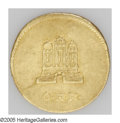 German States:Hamburg, German States: Hamburg. Gold Pattern Schilling 1778-OHK, City Gate/Date and value, VF with minor scratches and a wavy flan. The silver coin...