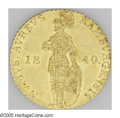 German States:Hamburg, German States: Hamburg. Free City gold Ducat 1840, Knight standing/Tablet, KM256, F-1141, lustrous AU....