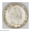 German States:Lippe-Detmold, German States: Lippe-Detmold. Paul Friedrich Emil Leopold III Taler1866A, Bust right/Crowned and mantled arms, KM267, lightly tonedUNC....