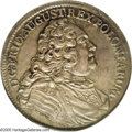 German States:Saxony, German States: Saxony. Friedrich August II 2/3 Taler 1738-FWoF, Bust right/Crowned double shields, KM879, MS62 NGC....