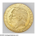 German Lots: , German Lots: A Hindenburg 1928 Medallic gold 10 & 20 Mark as follows: Bust of Hindenburg left/Arms, by Bernhart, 19.5 mm & 22.5 mm, Bruce... (Total: 2 coins Item)