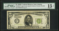 Fr. 1954-F $5 1928D Federal Reserve Note. PMG Choice Fine 15 Net